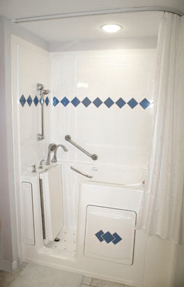 Walk -in Tub with Track